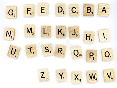 scrabble atoz scrabble wood letter blocks royalty free stock image