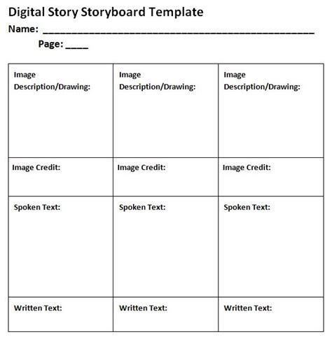 story template 40 professional storyboard templates exles