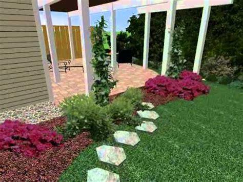 3d design of end unit townhouse by the landscape design