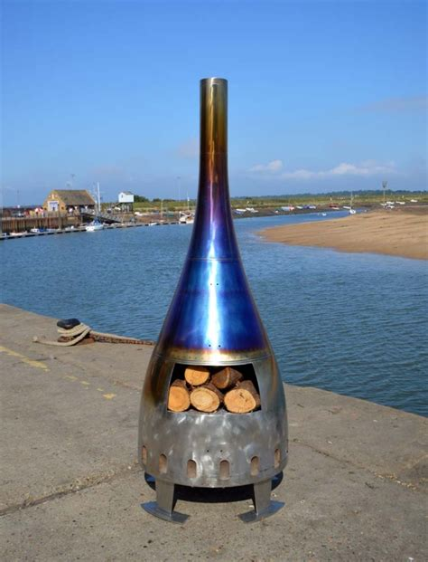 Stainless Steel Chiminea by Aviation Categories Altitude Creations
