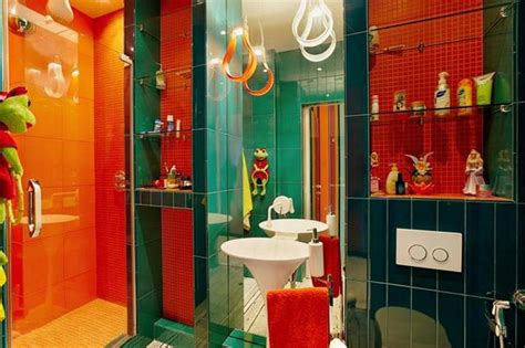 orange and green bathroom 15 bold bathroom designs with unusual color scheme rilane