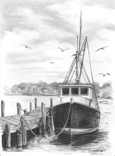 boat journey drawing drawn ship shading pencil and in color drawn ship shading