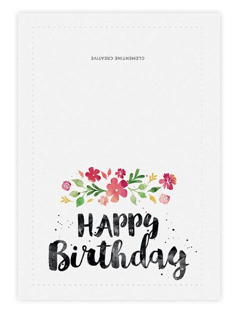 free printable birthday cards uk printable birthday card spring blossoms printable