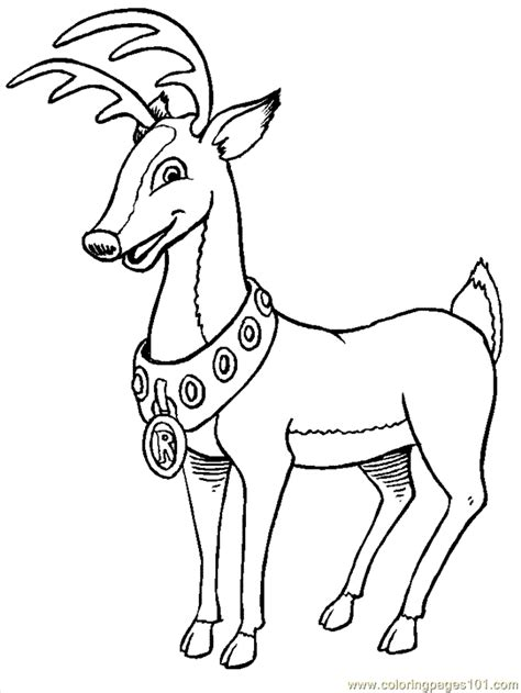 rudolf coloring pages coloring home