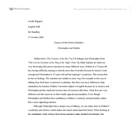 Person Essay Exle by Are Narrative Essays In Person Essay Writing Person And Third Person Points Of View