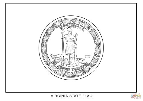 virginia state colors virginia state flag coloring page free printable