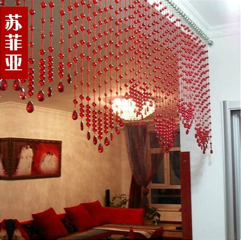 home decor hanging beads red bead curtain crystal bead curtains home decor hanging