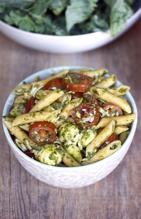 Kale Detox Salad With Pesto by Kale Pesto Caprese Pasta Salad One Ingredient 5 Ways With