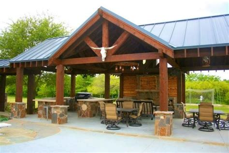 Outdoor Kitchen Pavilion Designs Pavilion Outdoor Kitchen And Fireplace Reallygood Interesting Stuff