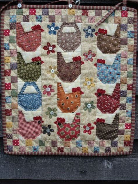 Patchwork Chickens - 125 best chicken quilts images on