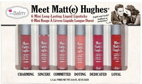 The Balm Meet Matte Hughes 6 Mini Liquid Lipstick Volume 3 Souq The Balm Meet Matte Hughes Set Of 6 Mini