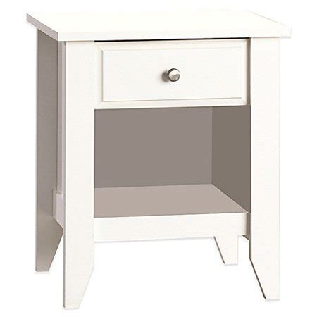 Sauder Shoal Creek Nightstand by Sauder Shoal Creek Stand Soft White Finish