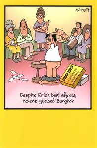 funny eric charades bangkok birthday greeting card cards