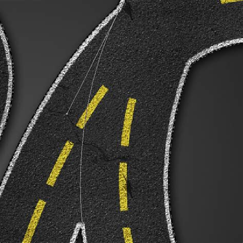 road pattern in photoshop striped road text effect road psd font texture textuts