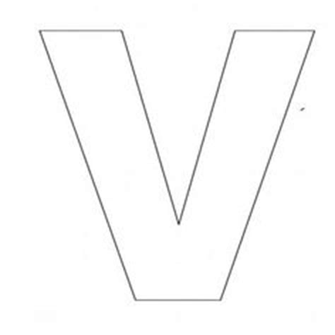 letter v template alphabet letter n template for abc crafts
