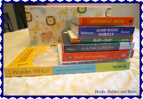 the baby favor books books babies and bows a starter library baby shower gift