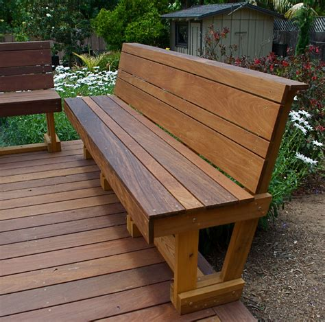 wood deck bench ipe hardwood bench modern outdoor benches san diego