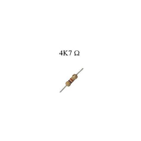 resistor de 4k7 resistor de filme de carbono 4k7 1 4w hu infinito componentes eletr 244 nicos