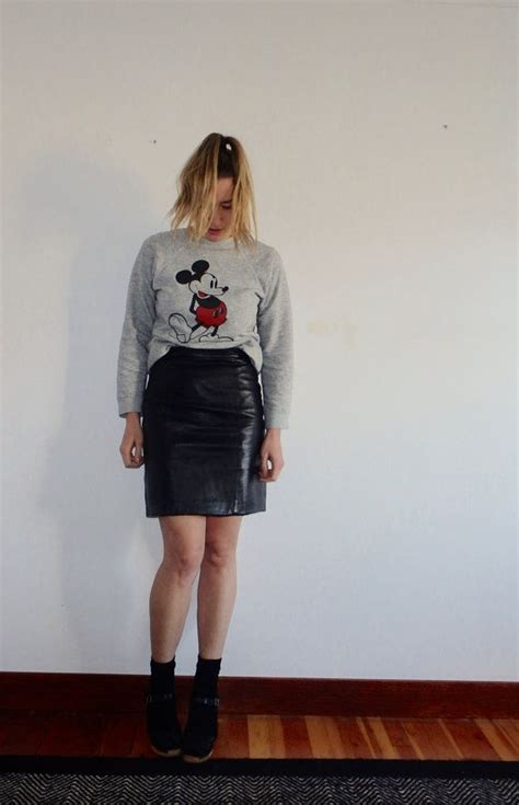 1000 images about vintage leather skirt on