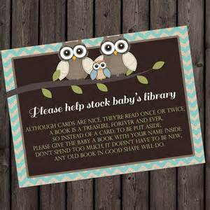 bring a book instead of a card insert baby shower invitation insert bring a book small card