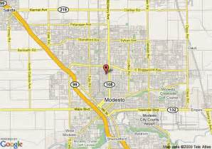 map of modesto days inn modesto