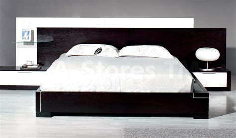modern bed contemporary bed 3992