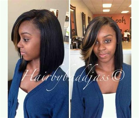 pics of sew ins with bangs and long hair in the back cute side bang hair styles pinterest bobs cute side