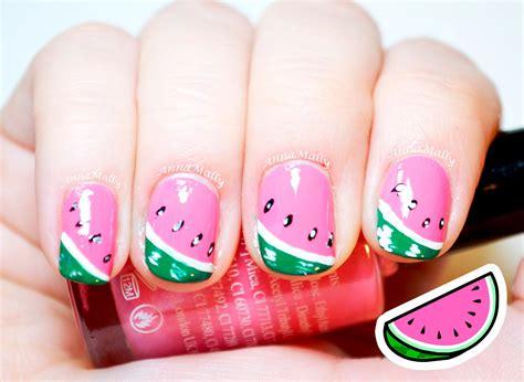 easy nails youtube easy watermelon nail art youtube