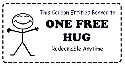 free hug a hug is like a boomerang you get it back right away carr prlog