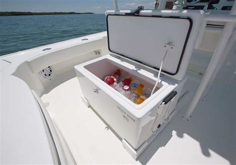 bay boat cooler seat bay boats 270z details seavee boats