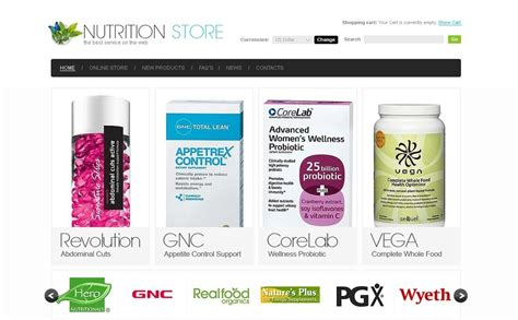 nutrition store virtuemart template 32310