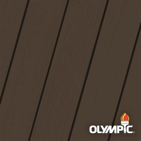 olympic maximum  gal coffee solid color exterior stain
