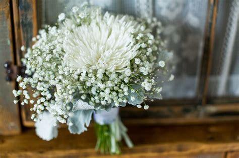 white spider mums  babys breath bouquets