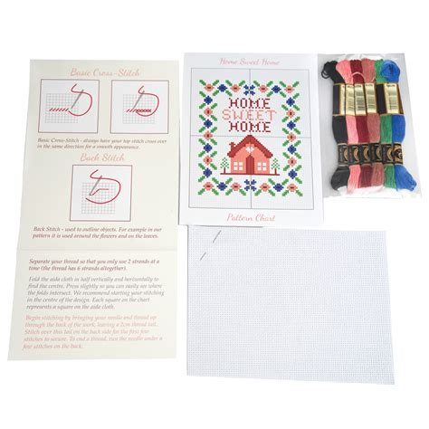 Finite Stationery Set In Tin Pencil Fancy Stationery Set home sweet home cross stitch kit rex dotcomgiftshop