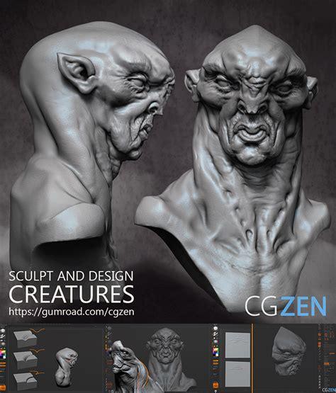 zbrush tutorial gumroad creature design by vertexbee on deviantart