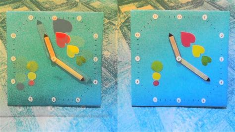 cara membuat jam dinding berputar terbalik prakarya jam dinding dr kardus kertas asturo sti youtube