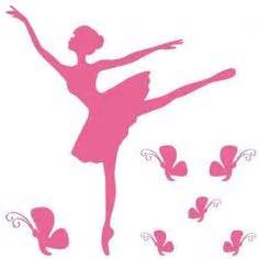 Ballerina Wall Mural sticker danseuse en tutu d 233 co pochoir silhouette et