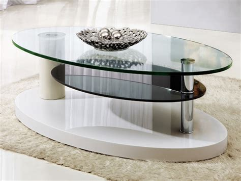 glass coffee table decor glass design oval coffee table home decorations