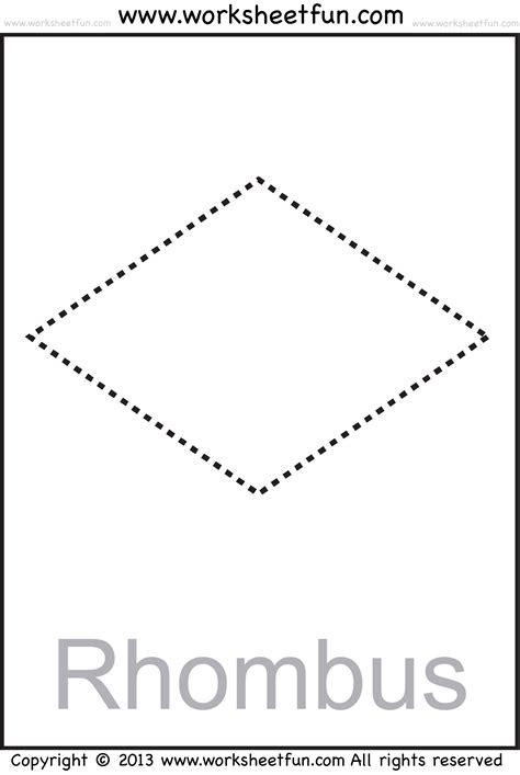 free printable rhombus shapes diamond shape worksheet book covers