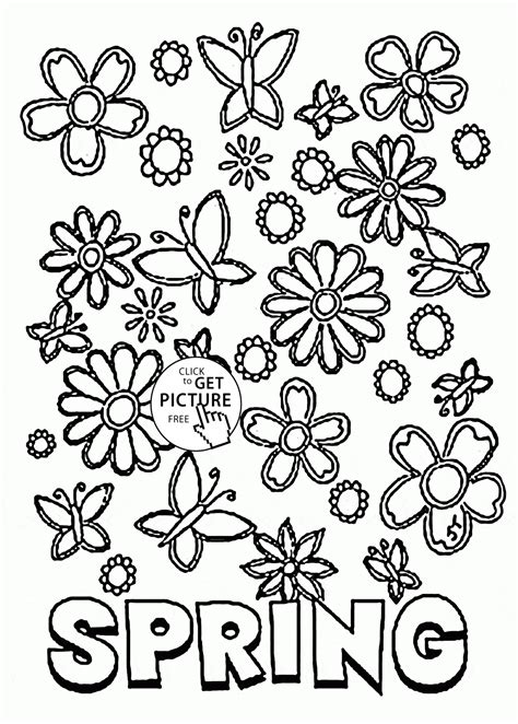 free printable spring flowers coloring pages az coloring