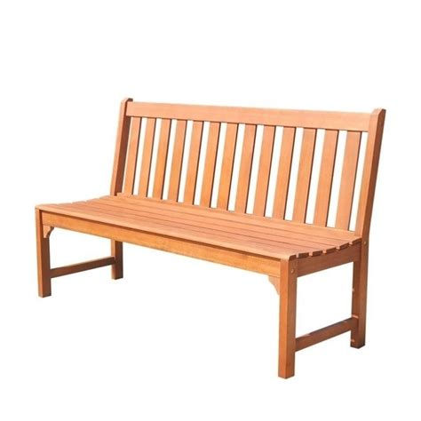 armless bench armless outdoor bench in natural v1638