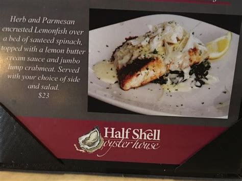 half shell oyster house menu menu picture of half shell oyster house gulfport tripadvisor