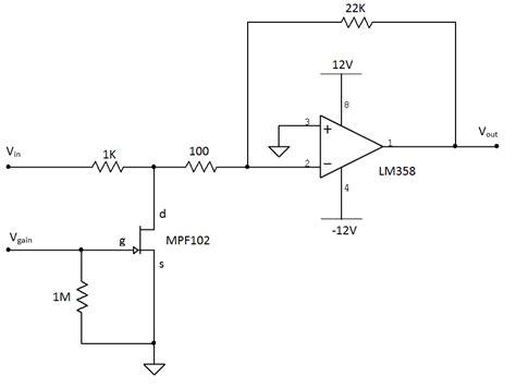 jfet transistor lifier diy voltage controlled lifier hackme
