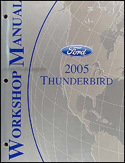 car owners manuals free downloads 2005 ford thunderbird regenerative braking 2005 ford thunderbird repair shop manual original