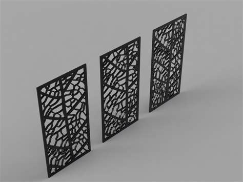 leaf pattern dxf leaf panels pack of 3 free dxf files free cad software