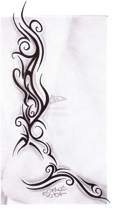 tribal side tattoos for women tattooflash tribal design by 2face on deviantart