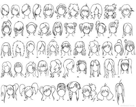 anime hairstyles to draw female anime drawing hair 16 full image