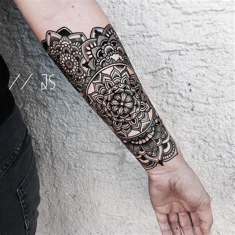 small tattoos for sleeves mandala ornament blackwork