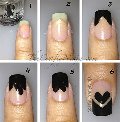 easy nail art designs step by step 15 easy step by step valentine s day nail art tutorials