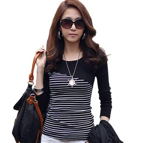 Gauniva Stripes Longsleeve Shirt Size Xxxl new plus size tops for sleeve o neck striped t